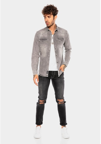RedBridge Jeanshemd »Birmingham«, mit stylischen Brusttaschen kaufen