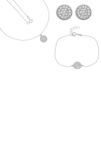 Firetti Schmuckset »Glanz, rhodiniert, diamantiert Anhänger bei Armband, Kette und... kaufen
