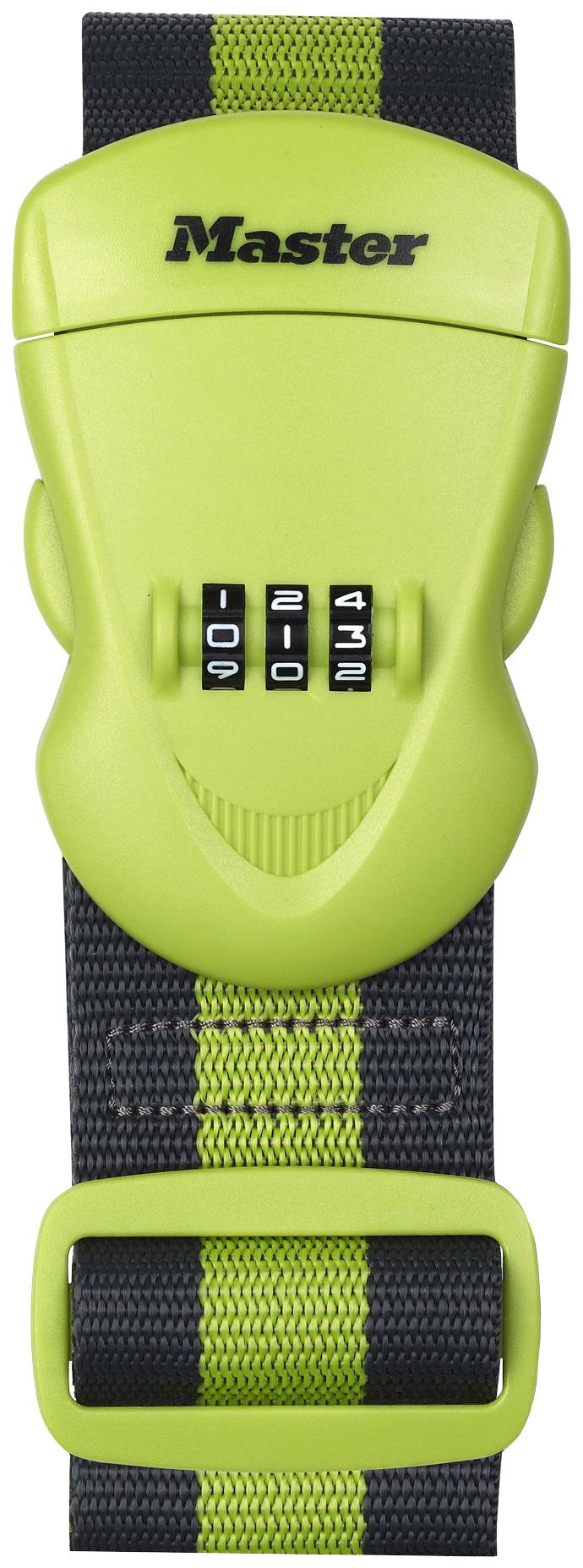 Master Lock Koffergurt, mit Zahlenschloss, 2 m grün Koffergurt