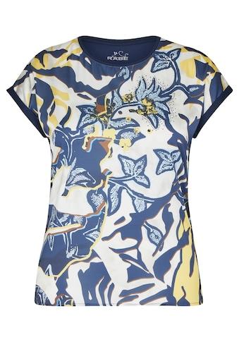 Rabe Kurzarmshirt, mit geblümtem Muster und Strass-Steinen kaufen
