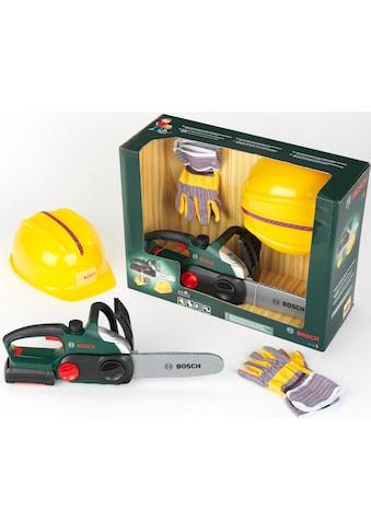 Klein Spielwerkzeug »Bosch Kettensäge mit Helm und Handschuhe«, (Set) kaufen
