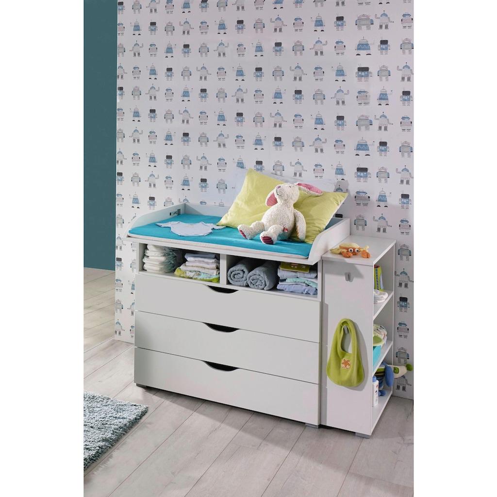 rauch BLUE Babymöbel-Set »Bristol«, (Spar-Set, 2 St.), Wickelkommode + Seitenregal