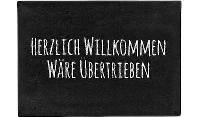 Fußmatte, »Herzl. Willkommen«, Pechkeks, rechteckig, Höhe 5 mm, gedruckt kaufen