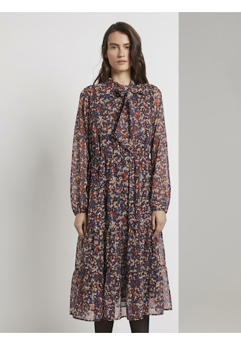 TOM TAILOR Volantkleid »Gemustertes Midi - Kleid mit Volant« kaufen