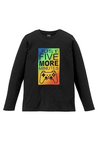 Arizona Langarmshirt »JUST FIVE MORE MINUTES« kaufen