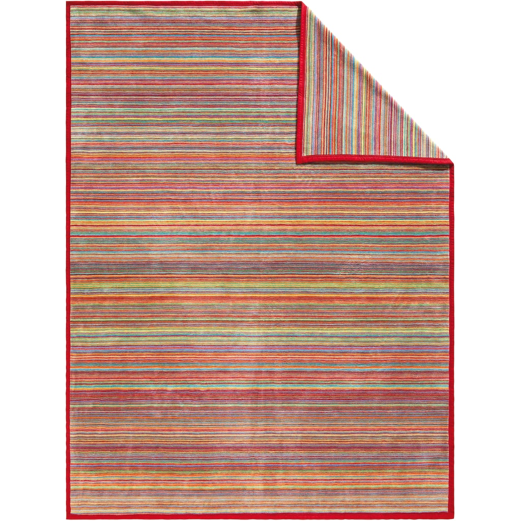 IBENA Wohndecke »Jacquard Decke Malang«, buntes Streifenmuster