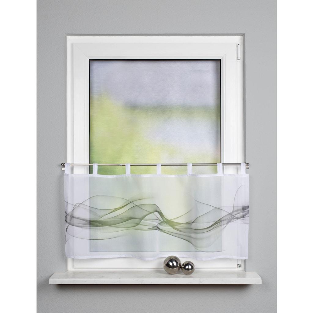 HOME WOHNIDEEN Scheibengardine »HAZE«, HxB: 45x120, Cafehaus Voile Digitaldruck