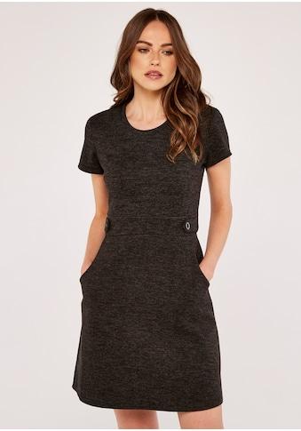 Apricot Strickkleid »Heavy Knit Crew Neck Epaulette Dress«, mit Taschen kaufen