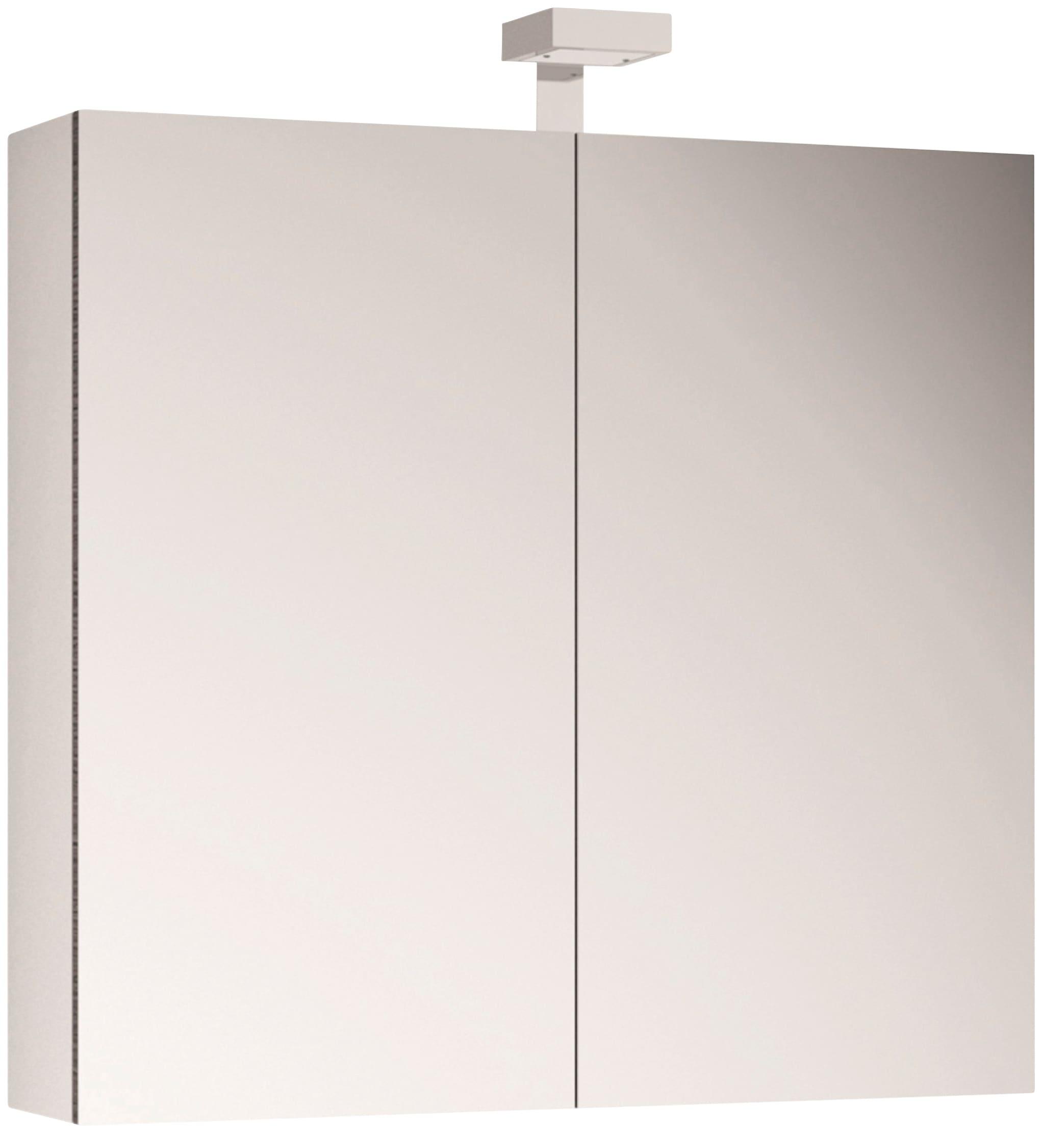 Allibert Spiegelschrank, LED-Beleuchtung weiß Bad-Spiegelschränke Badschränke Schränke Spiegelschrank