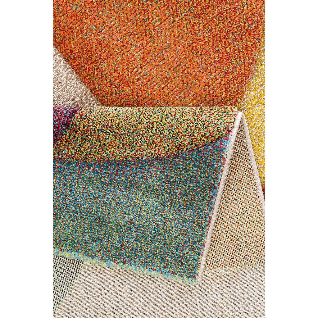 my home Teppich »Liva«, rechteckig, 13 mm Höhe, Hoch-Tief-Effekt, Wohnzimmer