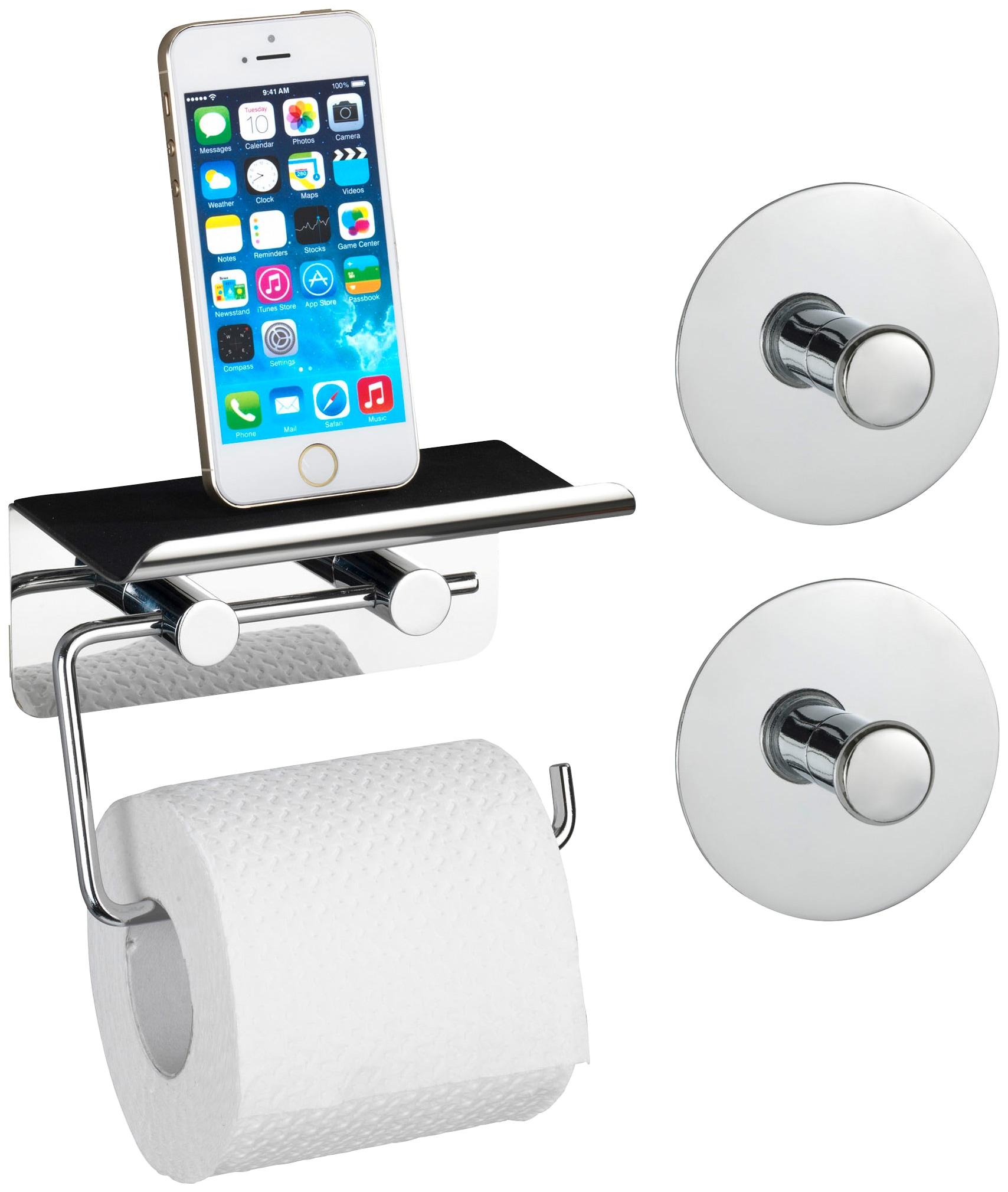 wenko toilettenpapierhalter smart mit smartphone ablage. Black Bedroom Furniture Sets. Home Design Ideas