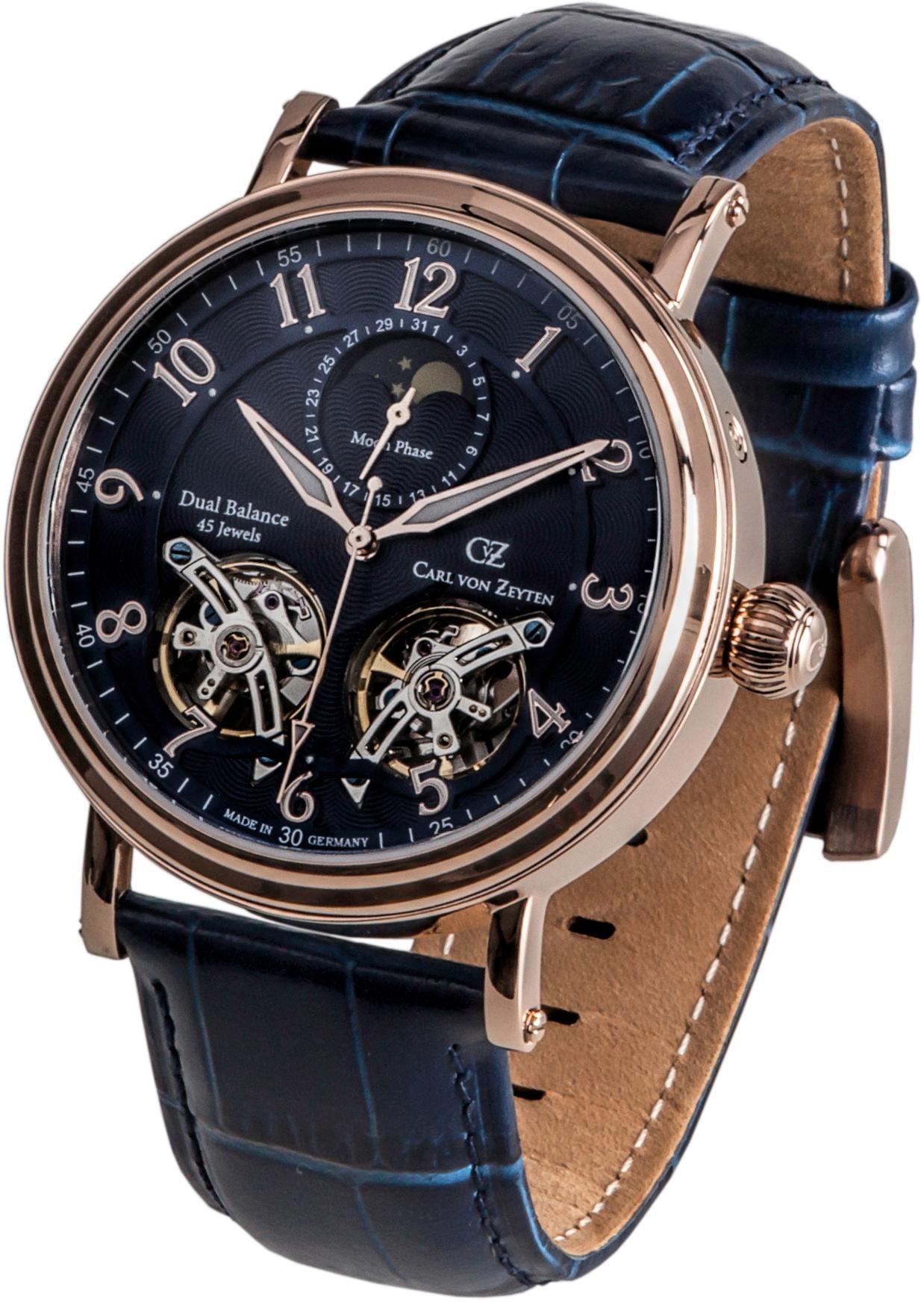 Carl von Zeyten Automatikuhr Murg CVZ0054RBL | Uhren > Automatikuhren | Blau | Carl Von Zeyten