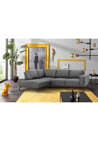 INOSIGN Ecksofa »Elina«, mit Metallbeinen, passt in jeden Wohnraumstil kaufen