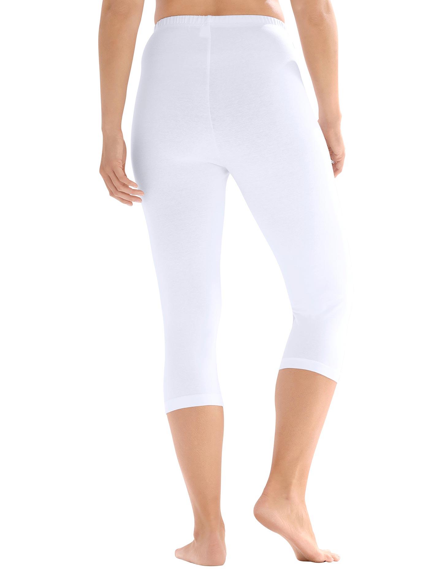 Caprileggings weiß Damen Leggings Hosen