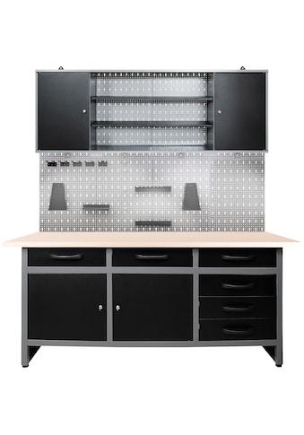ONDIS24 Werkstatt - Set »Karsten«, 160 cm, mit LED Touch - Lampen, inkl. Hakenset kaufen