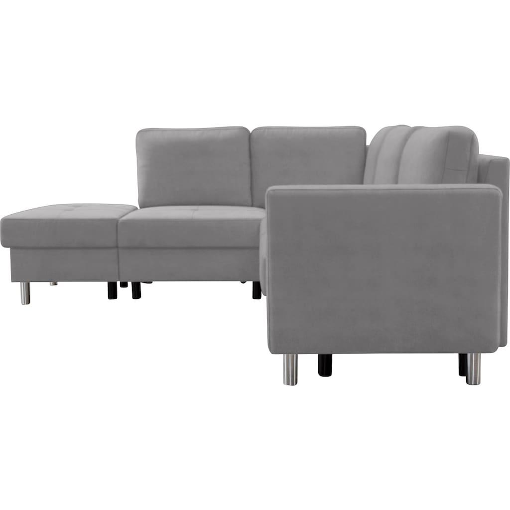 sit&more Ecksofa, easy aufbaubar