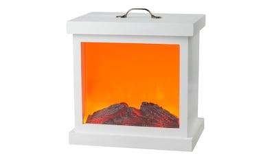 HGD Holz-Glas-Design LED-Holzkamin mit Kamineffekt und Metallverzierung für Netzbetri kaufen