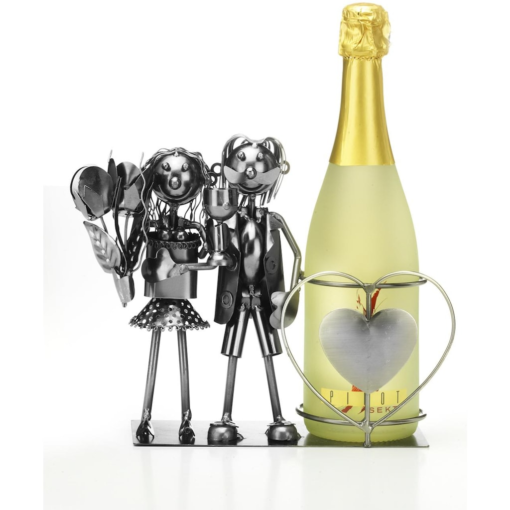 locker Weinflaschenhalter »Brautpaar«