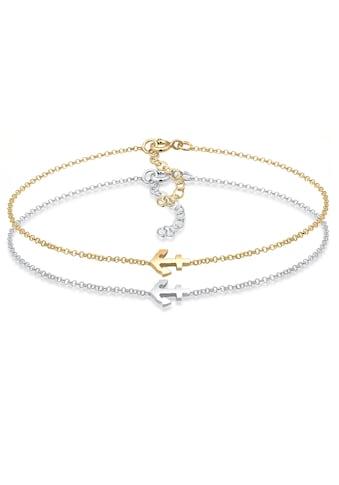 Elli Armband Set »Set Anker Paar Freundschaft Bi-Color 925er Silber« kaufen