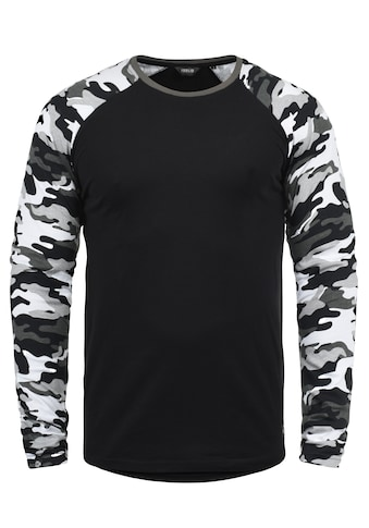 Solid Rundhalsshirt »Cajus«, Longsleeve im Baseball-Look kaufen