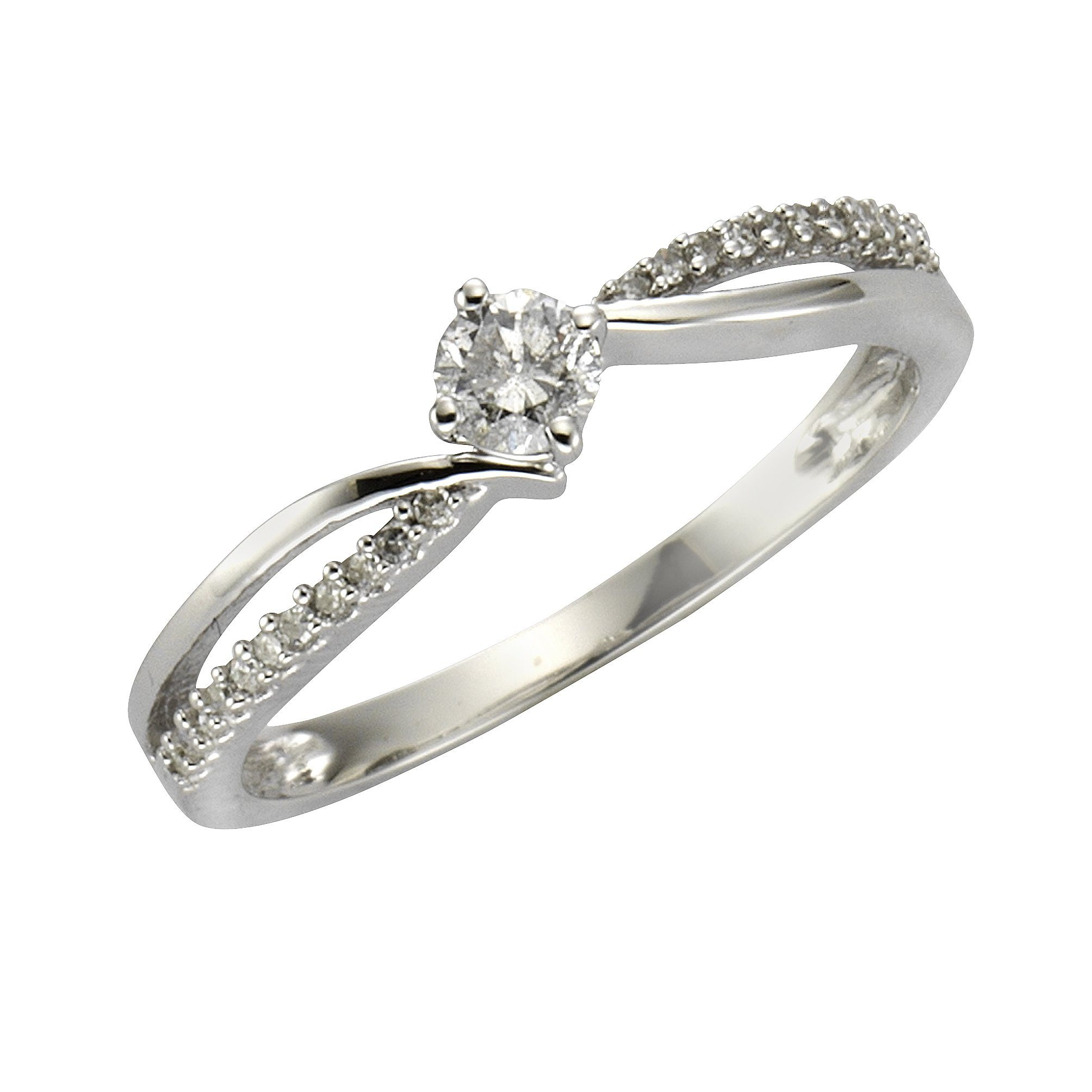 Diamonds by Ellen K Ring 585/- Weißgold Diamant 025ct | Schmuck > Ringe > Diamantringe | Diamonds By Ellen K.