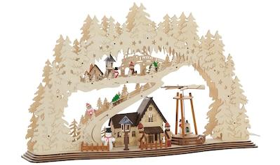 Schwibbogen »Forsthaus«, mit bewegter Pyramide kaufen