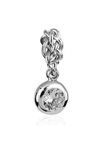Nenalina Charm - Einhänger »Solitär Zirkonia Kristall Knoten Bead 925 Silber« kaufen