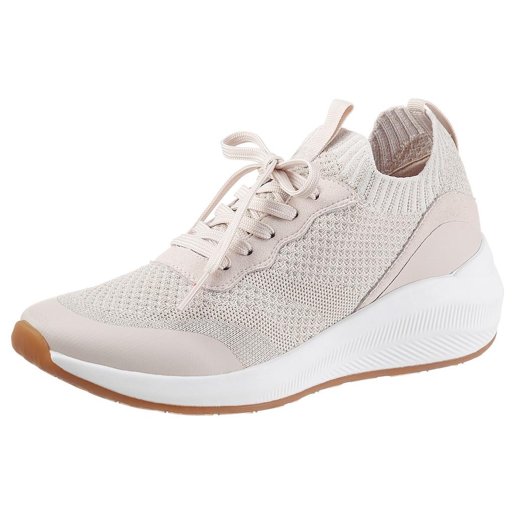 Tamaris Slip-On Sneaker »Fashletics«, mit trendigen Metallic-Schimmer