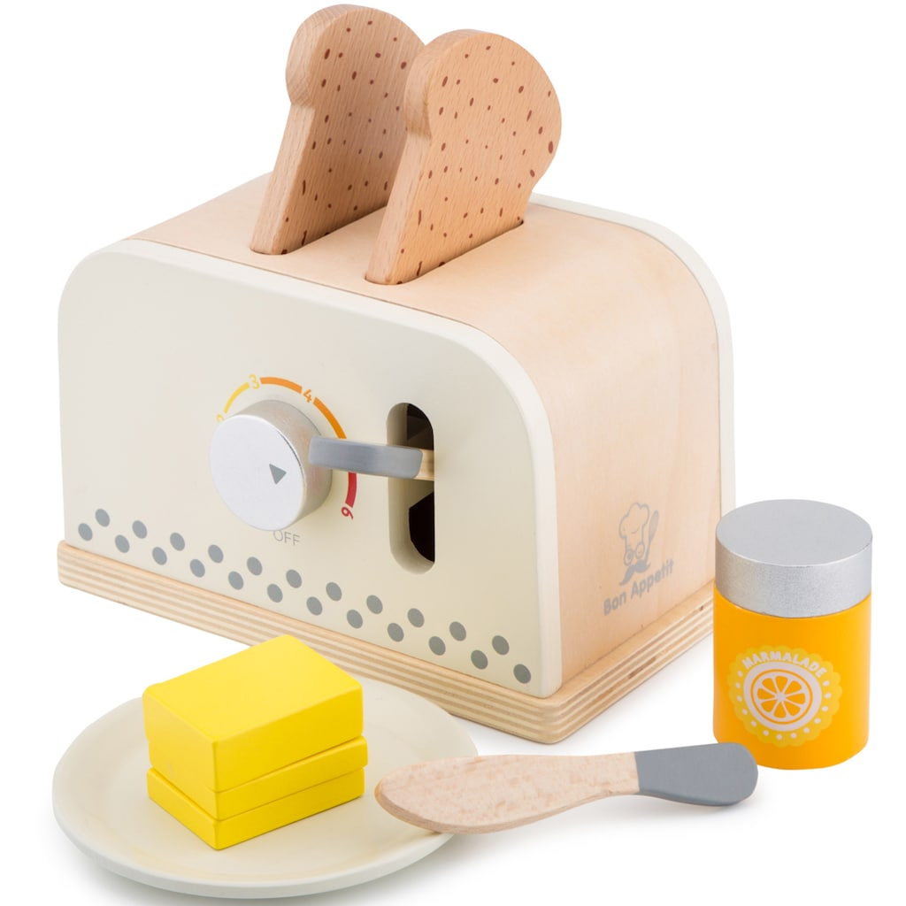 New Classic Toys® Kinder-Toaster »Bon Appetit - Toaster mit Zubehör, Creme«