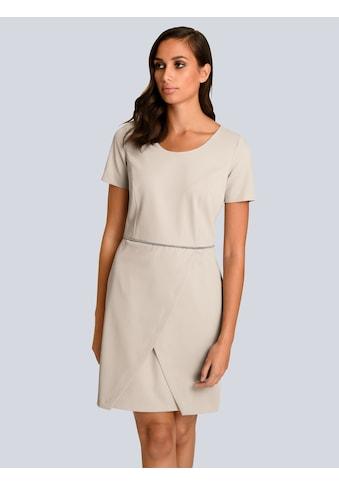 Alba Moda Kleid mit dekorativem Schmuckband in der Taille kaufen