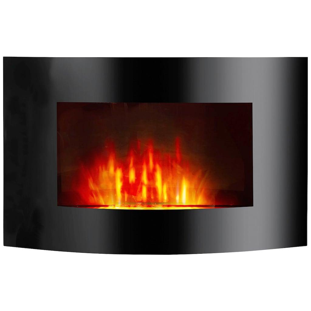 El Fuego Elektrokamin »Zürich«, schwarz, mit Fernbedienung und LED Beleuchtung