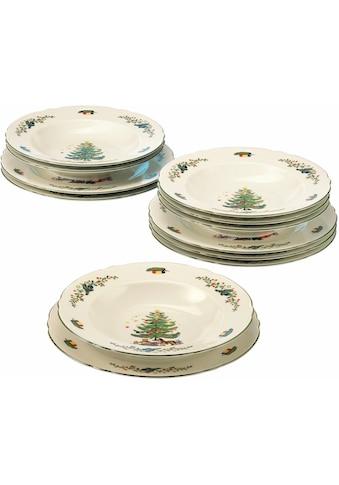 """Seltmann Weiden Tafelservice """"Marieluise Weihnachten"""" (12 - tlg.), Porzellan kaufen"""