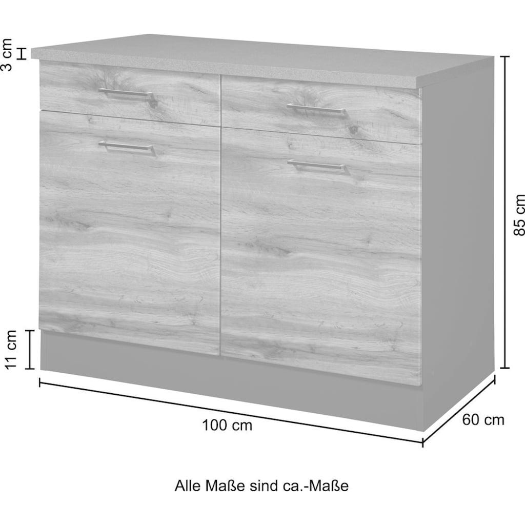 HELD MÖBEL Unterschrank »Trier«, Breite 100 cm, für viel Stauraum