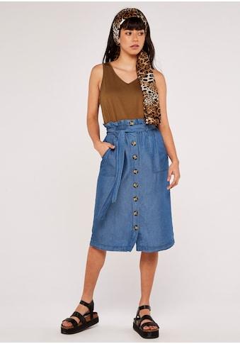 Apricot Jeansrock »Denim Paperbag Button Down Skirt«, mit Bindegürtel kaufen