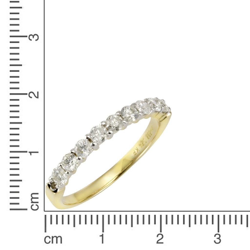 Diamonds by Ellen K. Goldring »Ring 585/- Gelbgold 9 Brillanten=0,52ct.«