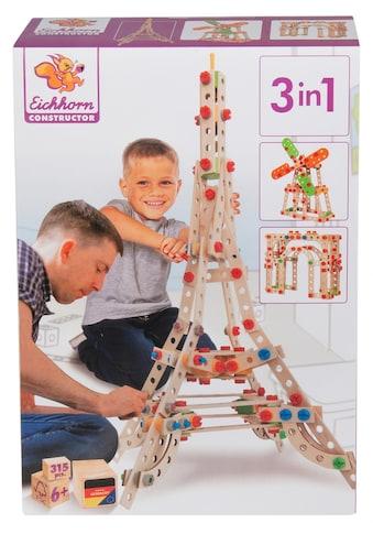 """Eichhorn Konstruktionsspielsteine """"Constructor Eiffelturm"""", Holz Kunststoff, (315 - tlg.) kaufen"""