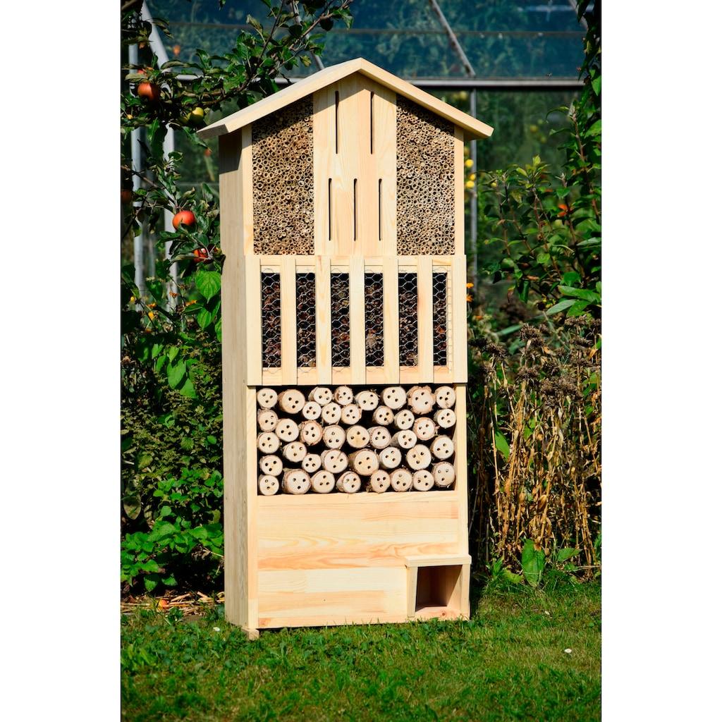 dobar Insektenhotel »XXL«, BxTxH: 58x30x110 cm, mit integriertem Igelhaus