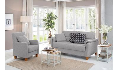 Home affaire 2,5-Sitzer »Palmera«, Federkern-Polsterung, 4 Bezugsqualitäten kaufen