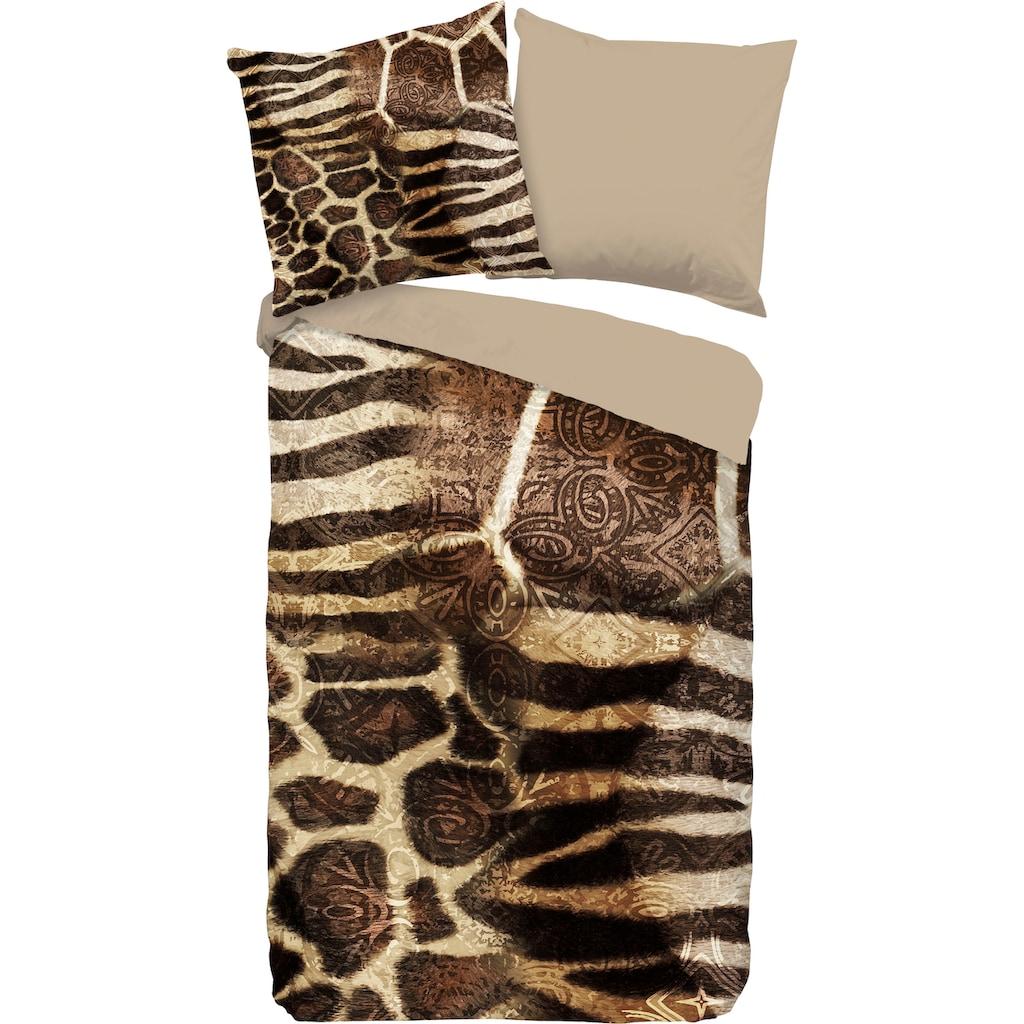 PURE luxury collection Wendebettwäsche »Kinga«, mit Tierprint