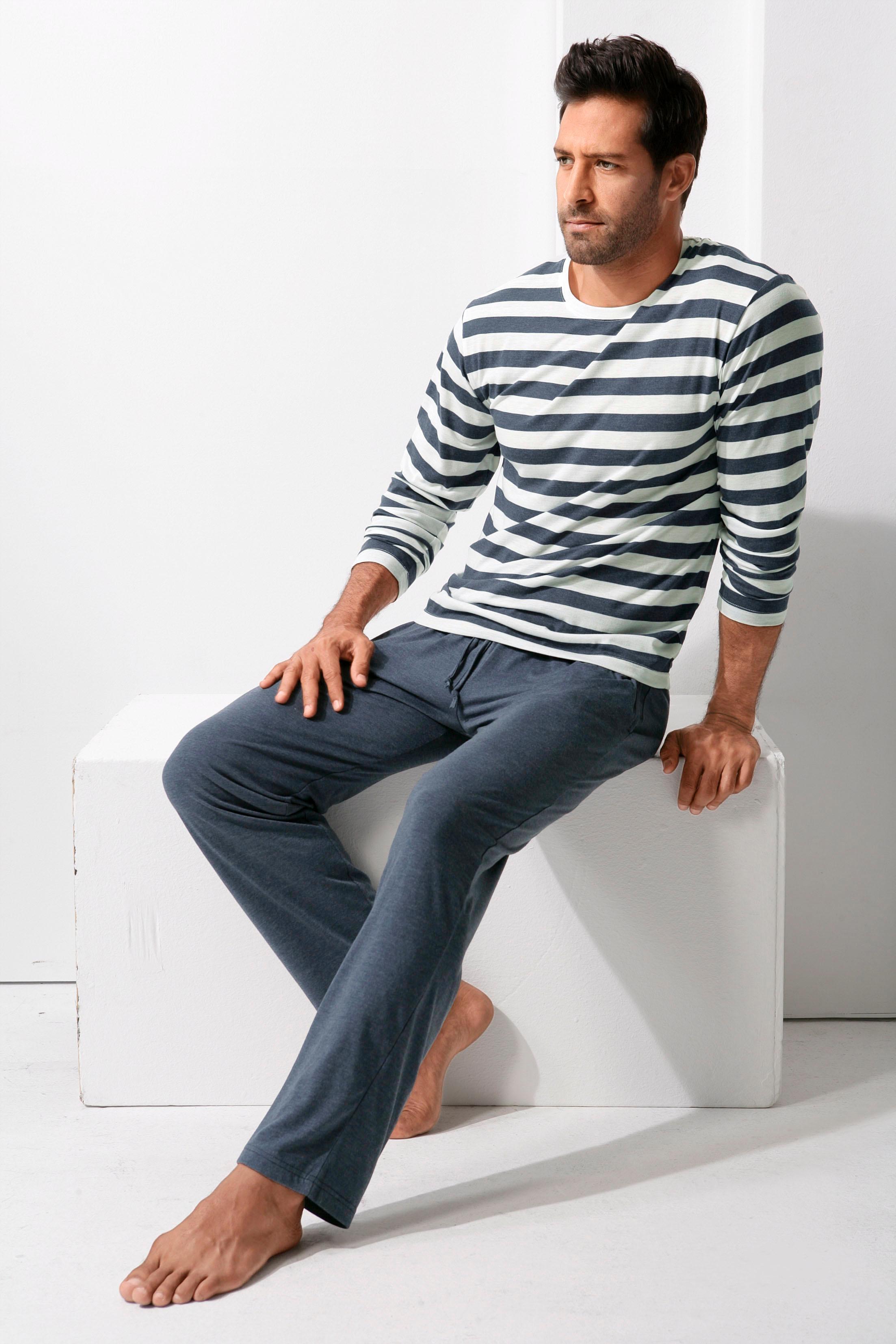 H.I.S Pyjama   Bekleidung > Wäsche > Nachtwäsche   Blau   H.I.S