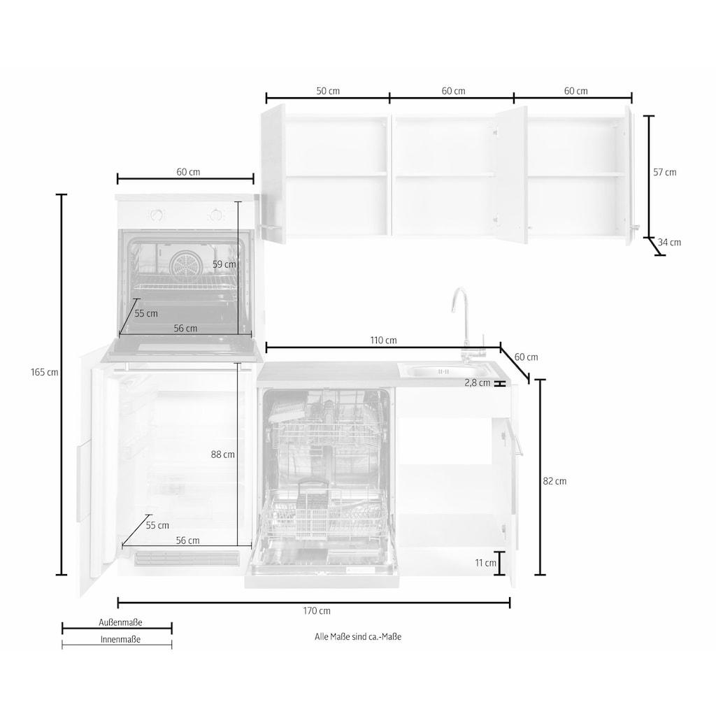 HELD MÖBEL Winkelküche »Trient«, mit E-Geräten, Stellbreite 230 x 190 cm