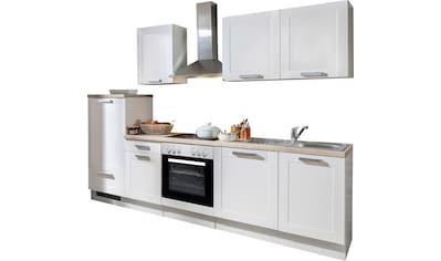 Menke Küchen Küchenzeile »White Premium Landhaus«, Küchenzeile mit E-Geräten, Breite... kaufen