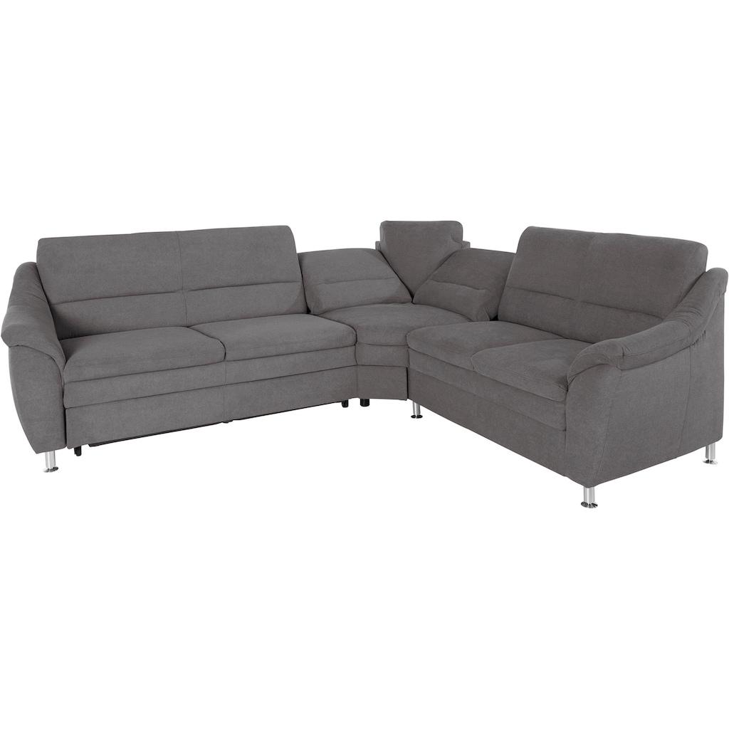 Places of Style Ecksofa »Cardoso«, mit Trapezecke für mehr Sitzkomfort, wahlweise auch mit Bettfunktion und Schublade und Relaxfunktion