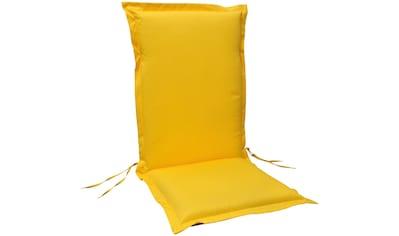 indoba Hochlehnerauflage »Premium«, extra dick - Gelb- IND-70442-AUHL-6 kaufen