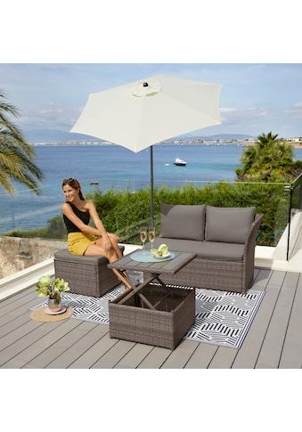 KONIFERA Loungeset »Marseille Premium«, (7 tlg.), 2er Sofa, 1 Hocker, Tisch... kaufen