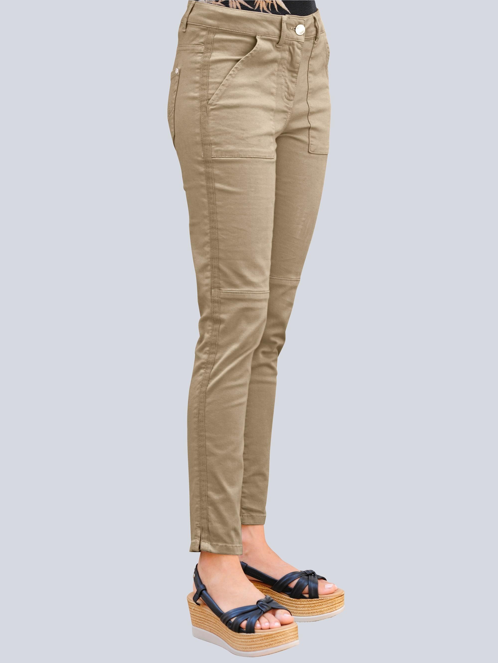 alba moda -  Stoffhose, mit Ripsband entlang der Seitennaht