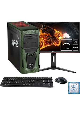 "Hyrican »Military Gaming 6437 + AOC C24G1 60 cm (24"")« Gaming - PC - Komplettsystem (Intel, Core i7, NVIDIA GeForce RTX 2060) kaufen"