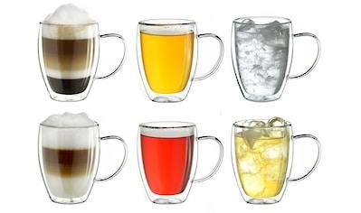 Creano Thermoglas, (Set, 6 tlg., 6er Set), mit Henkel, 250 ml, 6-teilig kaufen