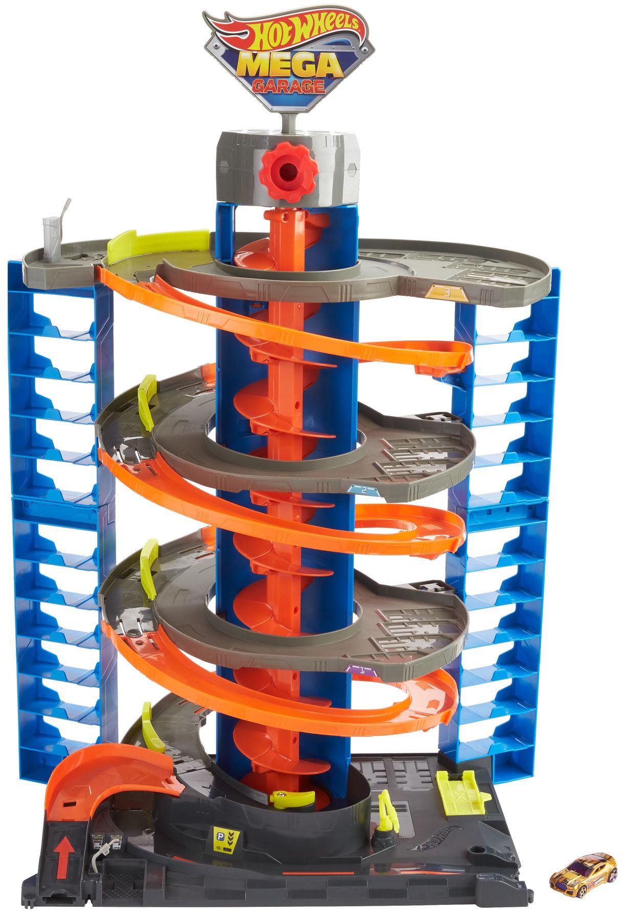 Hot Wheels Spiel-Parkgarage City Parkgarage Spielset, inkl. 1 Spielzeugauto und Zubehör bunt Kinder für Spielzeugautos Autos, Eisenbahn Modellbau