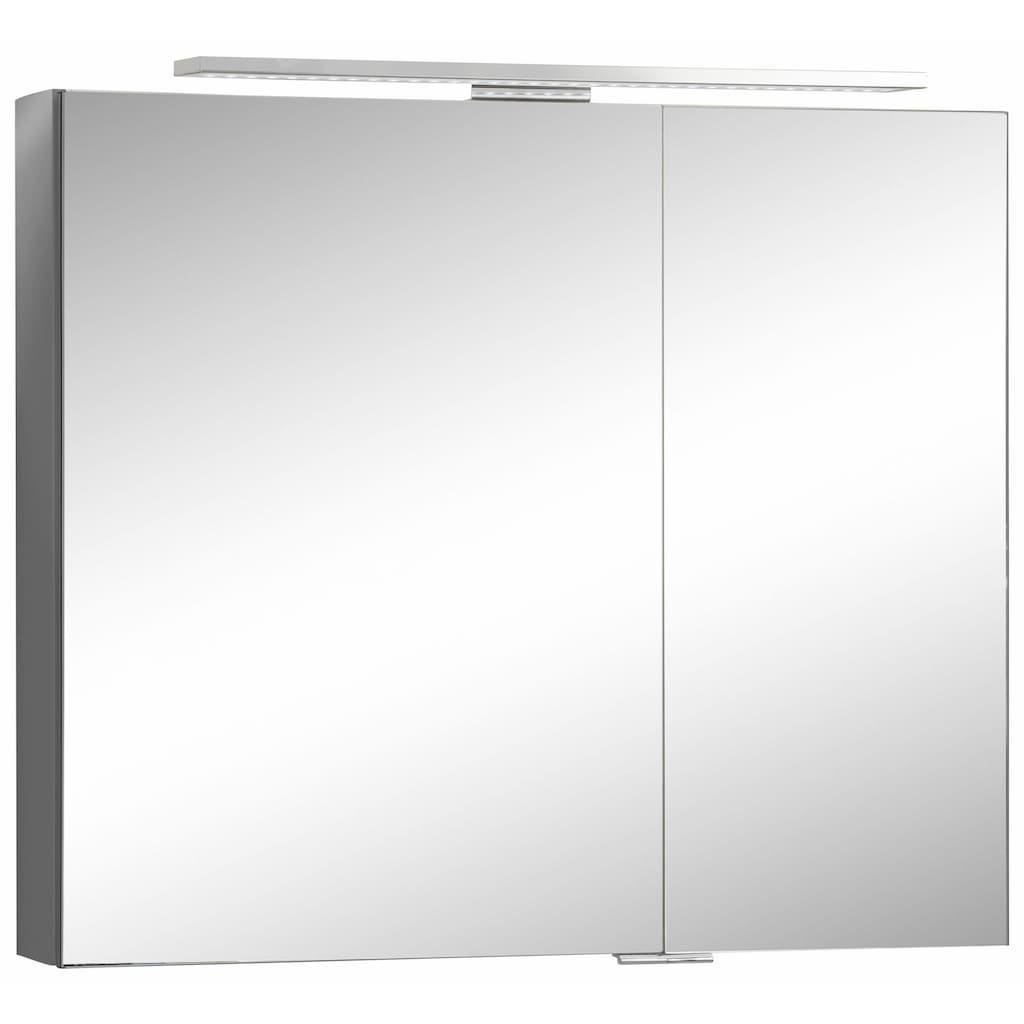 MARLIN Spiegelschrank »Sola 3130«, mit LED Beleuchtung, Breite 80 cm, vormontiert